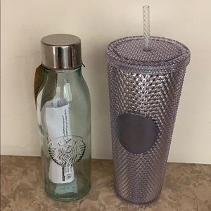 Starbucks Studded Tumbler and Recycled Glass Combo